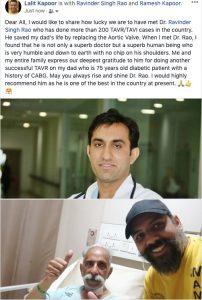 Dr. Ravinder Singh Rao's testimonial
